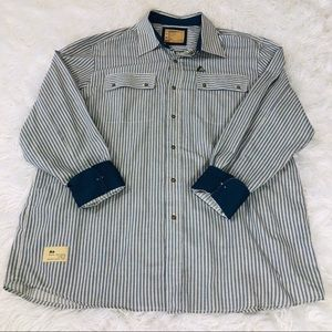 Men's Rocawear Long sleeve Railroad Stripe Shirt
